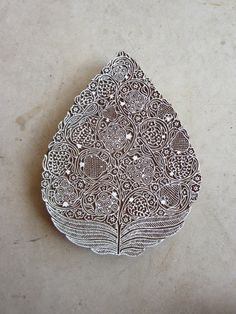 Pomegranate Tree, hand carved block