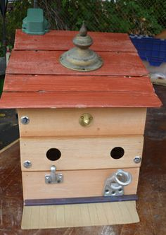 Salvage Birdhouses - Second Use, Seattle WA (great source for salvage material)