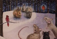 Mouse Book Illustration Melody Lea Lamb ACEO by MelodyLeaLamb, $6.25
