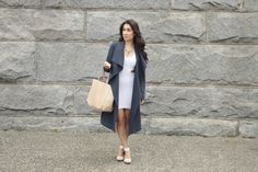 Navy trench coat for spring by Club Monaco