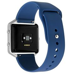 Soft Silicone Watch Replacement Band for Fitbit Blaze - Navy Blue