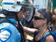 Harper finally gets close look at Quebec students as protesters target economicforum
