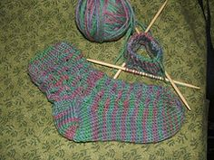 honeycomb cute sock pattern - instructions