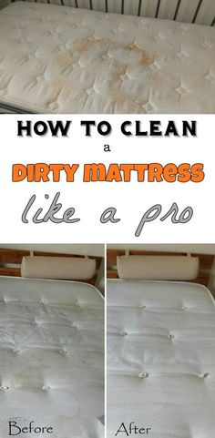 Learn how to clean a dirty mattress like a pro.
