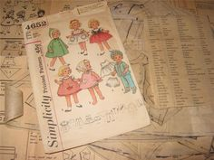 ORIGINAL Doll Clothes PATTERN 4652 for 20 in Chatty Cathy by Mattel 1960s