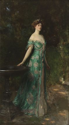 """Millicent, Duchess of Sutherland"" (1904), by Italian-born American artist - John Singer Sargent (1856-1925), Oil on canvas."