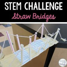 STEM Engineering Challenge: Here's another easy prep and easy materials challenge that will be the most fun in your STEM class ever! It's a bridge building activity that gives students a choice of the style bridge they want to try. The best news is: there are only two materials!