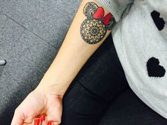 Disney mandala Minnie Mouse tattoo