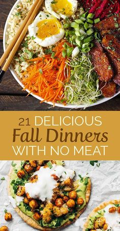 21 Delicious Meatless Dinners for Fall #MeatlessMonday #vegetarian