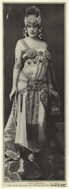 1912 Opera star Marta Witkowska - Polish contralto with the Chicago-Philadelphia Opera Co in Aida - from digitalgallery.nypl.org