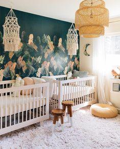 Baby Girl Nursery Twins Room Ideas Ideas For 2019 Kids Bedroom Sets, Baby Bedroom, Baby Room Decor, Bedroom For Twins, Bedroom Ideas, Trendy Bedroom, Girls Bedroom, Nursery Twins, Nursery Themes