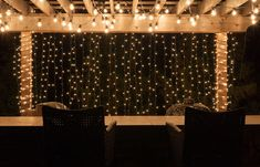 6m x 3m 480 leds warm white string fairy curtain lights christmas string lights along the rungs of a pergula and icicle lights dangling on the sides add a magical touch to any backyard aloadofball Image collections