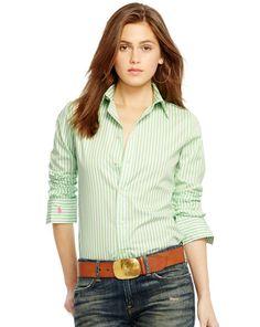 Striped Cotton Shirt - Polo Ralph Lauren Long-Sleeve - RalphLauren.com