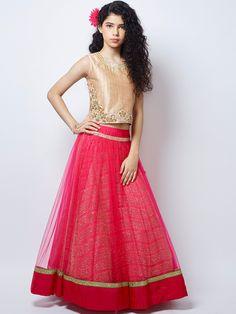Shop Exclusive magenta wedding wear net lehenga choli online from India. Lehenga For Girls, Kids Lehenga Choli, Net Lehenga, Magenta Wedding, Choli Designs, Dress Designs, Desi Wear, Kids Fashion, Fashion Outfits