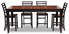 Oak Express: Arcadia 5 Pc. Counter Height Dining Group : D5-PKARDCH