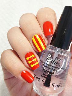 Disney nails Dumbo : Circus – Kiko 355 – Bourjois : Fashion Show à New York Cute Nails, Pretty Nails, Circus Nails, Nail Art Disney, Disney Inspired Nails, Gel Nails French, New Nail Art, Manicure E Pedicure, New York