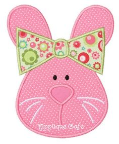 285 Girl Bunny  Machine Embroidery Applique Design