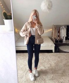 Uni Outfits, Trendy Fall Outfits, Cute Outfits For School, Winter Fashion Outfits, Cute Casual Outfits, Simple Outfits, Look Fashion, Stylish Outfits, Cute Everyday Outfits