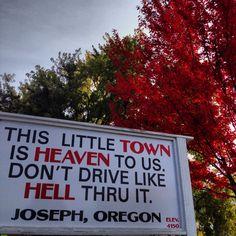 Joseph Oregon. Hells Canyon Scenic Byway.
