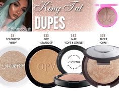 Jeffree star highlighter dupes in the shade King Tut // Kayy Dubb ♡