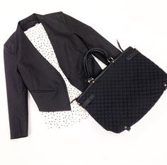 Blazer $90 Polka Dot Blouse $40 Bag $68 @ Primp Boutique