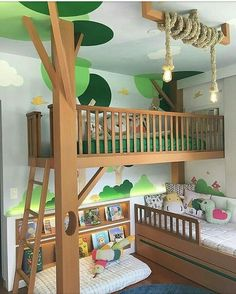 22 Imaginative Kids Jungle Room To Creative Explorer jungle imaginative explorer creative Baby Bedroom, Bedroom Wall, Girls Bedroom, Bedroom Decor, Kid Bedrooms, Wall Beds, 6 Year Old Boy Bedroom, 60s Bedroom, Cool Kids Rooms