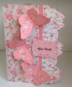 Card made using Anna Griffin Cricut Soirees designs.