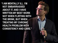 John Green spoke about mental illness and creativity at NerdCon. This is so important because I feel like being a mentally ill artist makes being unsafe romantic and okay. You still make beautiful art when you're trying your best to do good for yourself. John Green Quotes, John Green Books, Mental Health Quotes, Mental Health Awareness, Hank Green, John Green Funny, Looking For Alaska, The Fault In Our Stars, Faith In Humanity