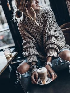 LoverMalls Grey Plain Long Sleeve Casual Fashion Going out Pullover Sweater Outfits Grey Plain Long Sleeve Casual Fashion Going out Pullover Sweater Mode Outfits, Casual Outfits, Fashion Outfits, Womens Fashion, Ladies Fashion, Fashion Clothes, Casual Clothes, Grey Clothes, Fashion 2016