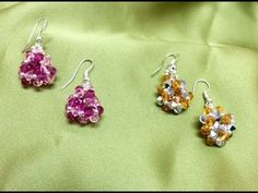 Como hacer Pendientes con SWAROVSKI Y MIYUKI - Miyuki Swarovski earrings - YouTube