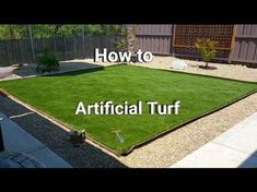 How to install artificial grass? Realgrass at Home Depot Synthetic Artificial Turf Installation - Yo Laying Artificial Grass, Small Artificial Plants, Fake Grass, Artificial Turf, Artificial Flowers, Turf Installation, Artificial Grass Installation, Astro Turf, Outdoor Landscaping