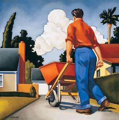 """Wheelbarrow"" by R. Kenton Nelson"