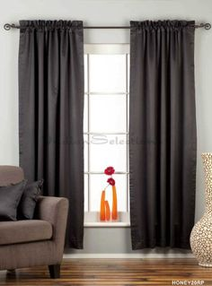 LinedBlack Rod Pocket 90 blackout Cafe Curtain  Drape  50W x 36L  Piece *** Read more reviews of the product by visiting the link on the image. (This is an affiliate link and I receive a commission for the sales)