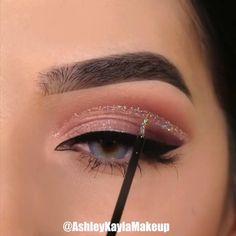 Makeup Eye Looks, Eye Makeup Tips, Smokey Eye Makeup, Cute Makeup, Glam Makeup, Skin Makeup, Eyeshadow Makeup, Makeup Hacks, Makeup Products