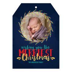 Merriest Christmas Holiday Photo Invitation