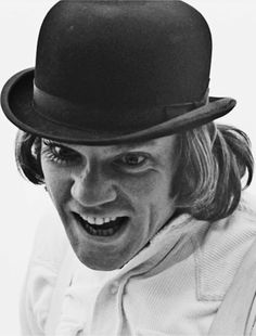 Malcolm McDowell as Alex in A Clockwork Orange