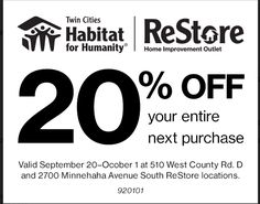 Twin Cities ReStore Coupon