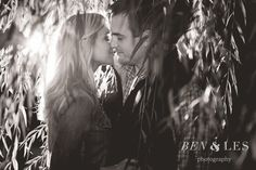 Meghan & Josh Engagement First Look: Creekside, Gahanna | Ben & Les Photography - Columbus Wedding Photographers