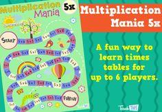 Multiplication Mania 5x