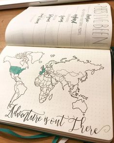 Love this page for in my bullet journal, great way to keep track of my travels in my journal #bujo
