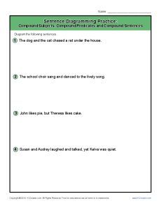 Diagramming sentences 5th grade examples electrical work wiring sentence diagramming practice 6 sentences worksheets and english rh pinterest com diagramming sentences examples 5th grade ccuart Image collections