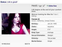 articles dating profile headline examples