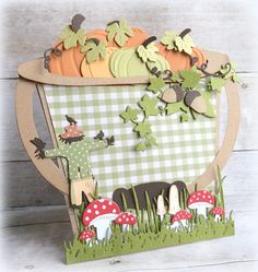 Made by Jolanda Stencil Diy, Stencils, Spring Crafts For Kids, Fall Cards, Halloween, Lunch Box, Paper Crafts, Tea Cup, Handmade