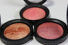 Laura Geller Baked Stackable Macaroons for Face & Eyes Review Swatches with Blush, Highlighter, & Eyeshadow via @Stephanie Louise Telford
