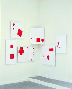 David Diao: Painting in Six Parts, 1985 Acrylique sur toile, 6 éléments, environ 170 x 200 cm S  Steph C