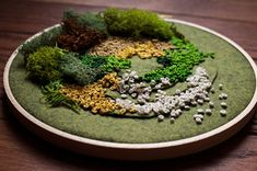 """moss embroidery"" created by Emma Mattson"