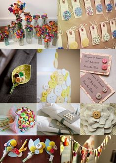 Button Wedding Ideas Mood Board  http://theweddingcommunityblog.com/2012/11/12/pine-cone-wedding-decoration-ideas/