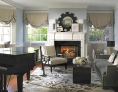 baby grand piano room | Cozy Rooms - Sophisticated Designs - Manhattan Beach - Betsy Burnham ...