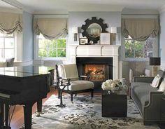baby grand piano room | Cozy Rooms - Sophisticated Designs - Manhattan Beach - Betsy Burnham ...