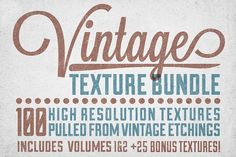 Vintage Texture Bundle Graphics Buy the complete collection of volumes 1-4 here: http://crtv.mk/rPc3Tutorial on using these texture by Matt Borchert